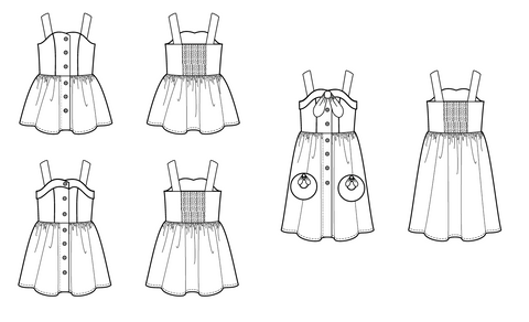 Teen pdf pattern tween sleeveless in seattle knot sundress