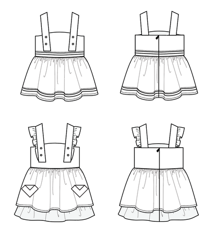 d'anjou dress and pinafore sewing pattern