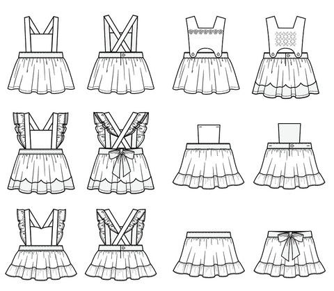 Duchess and Hare Bee's Knees pinafore design flats