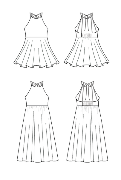 Duchess and Hare Fete To Be Tied strappy back summer dress pattern