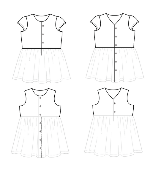 Every Which Way Button Front and Cap Sleeve Pattern Add on