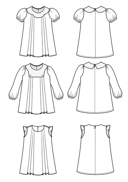 Everything Nice A Line Dress Pattern with long or short sleeves