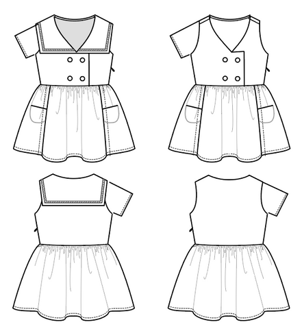 sailor dress pattern for girls