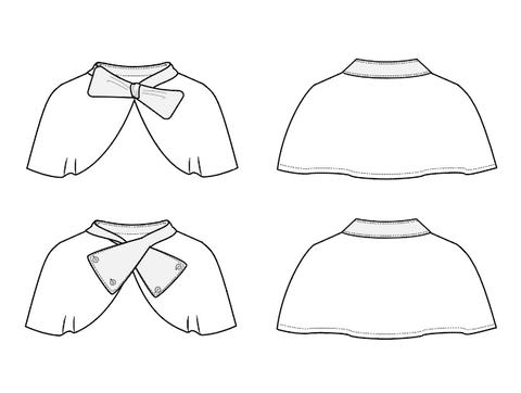 pdf sewing pattern for girls cape