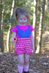 9 sizes: A La Heart Pinafore or Romper