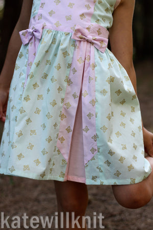 Little Bow Pleat sizes 2-12