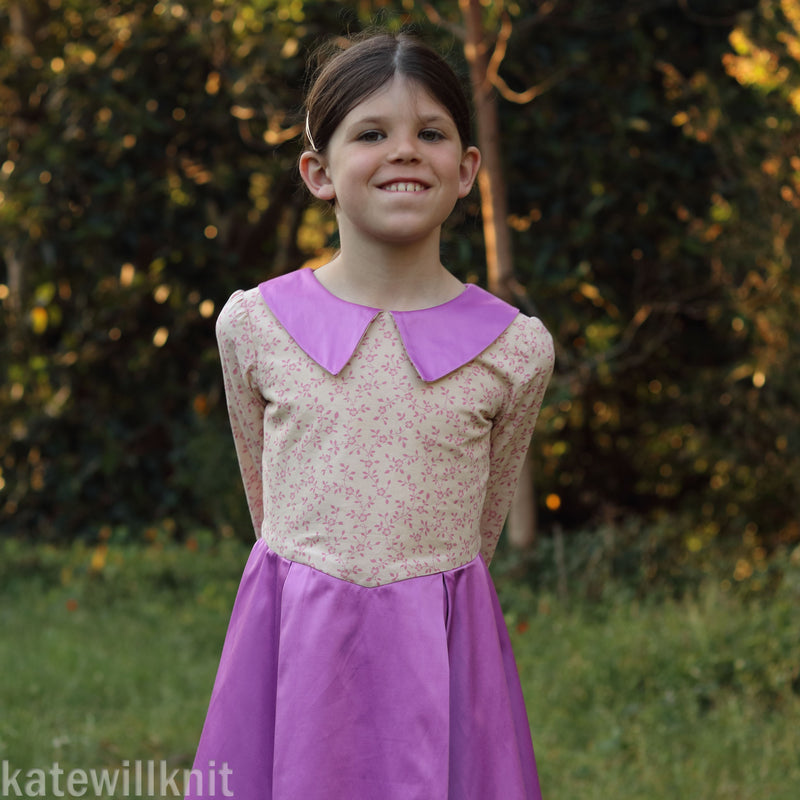 Nutcracker dress with removable peplum and plastron