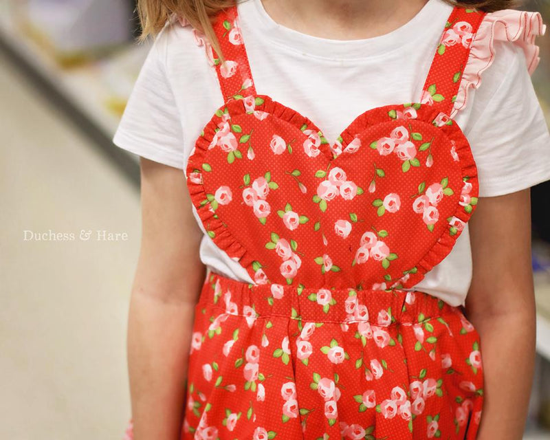 A La Heart Pinafore or Romper