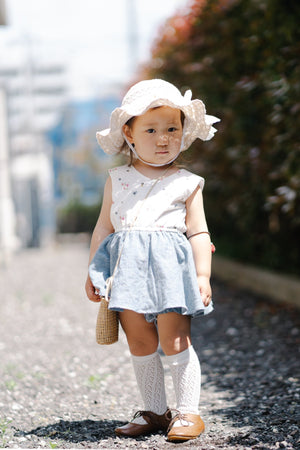 Baby Runaround  Romper-  girls sewing pdf pattern with mini skirt