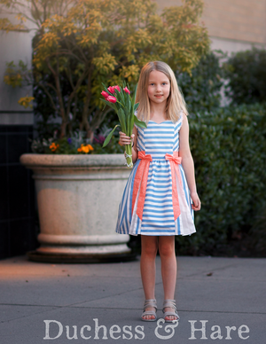 Little Bow Pleat Dress