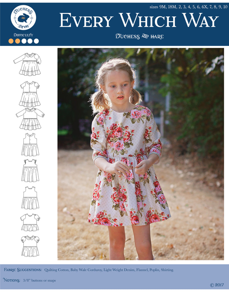 12 sizes: Every Which Way Tunic and Dress