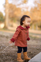 Elementary Reversible Coat with Detachable Cape