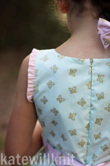 10 sizes: Little Bow Pleat Dress
