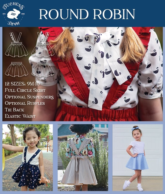 Round Robin Suspender Skirt and Skater Skirt