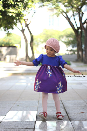 Sugar Pie Dress with Balloon Sleeves - Duchess & Hare pdf sewing patterns for girls