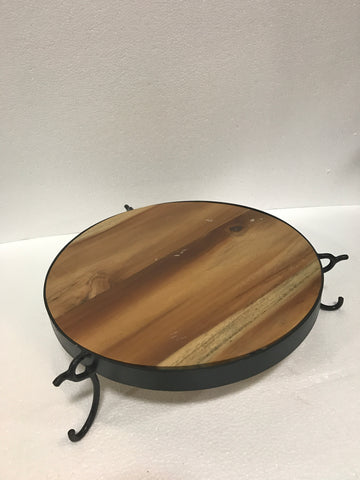 JT Teak Slice Join Bike Wheel Platter