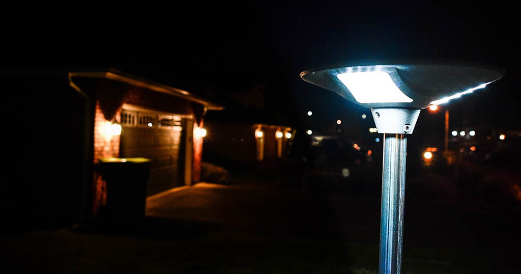 Our Solar Walkway Light on a driveway
