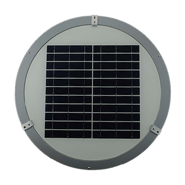 Solar Panels on top of Geolite Solar Garden Light