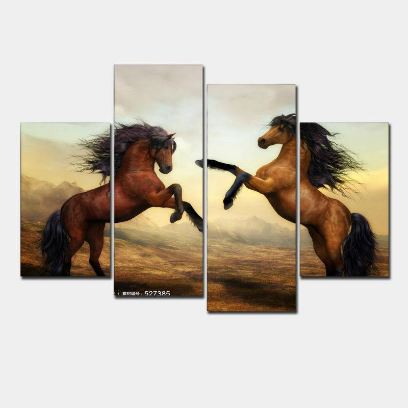 Wild Horses - Four Piece Set - CanvasDec - Canvas Wall Art | Canvas Prints | Ready To Hang