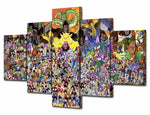 DBZ - Five Piece Set - CanvasDec - Canvas Wall Art | Canvas Prints | Ready To Hang