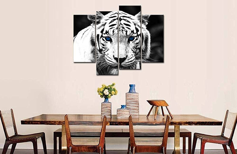 Blue Eyed Tiger - Four Piece Set - CanvasDec - Canvas Wall Art | Canvas Prints | Ready To Hang