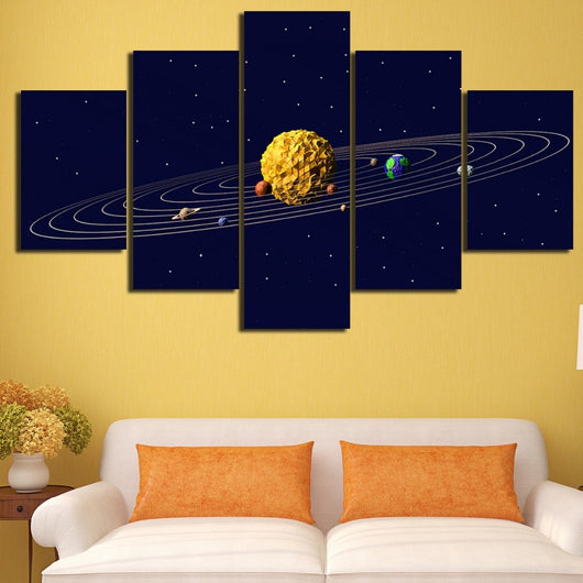 Solar System - Five Piece Set – CanvasDec