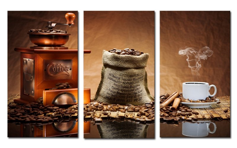 Coffee Machine - Three Piece Set - CanvasDec - Canvas Wall Art | Canvas Prints | Ready To Hang