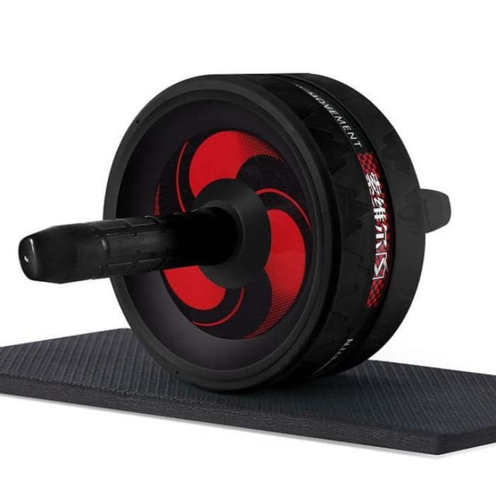 Ab Roller With Jump Rope - Black - Fitness Gym