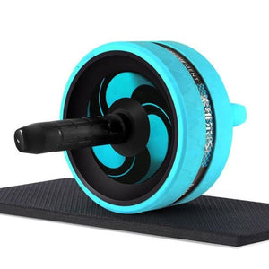 Ab Roller With Jump Rope - Blue - Fitness Gym