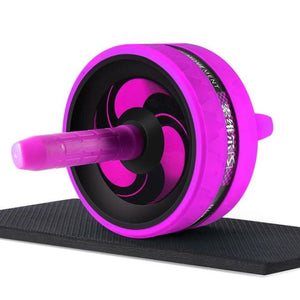 Ab Roller With Jump Rope - Purple - Fitness Gym