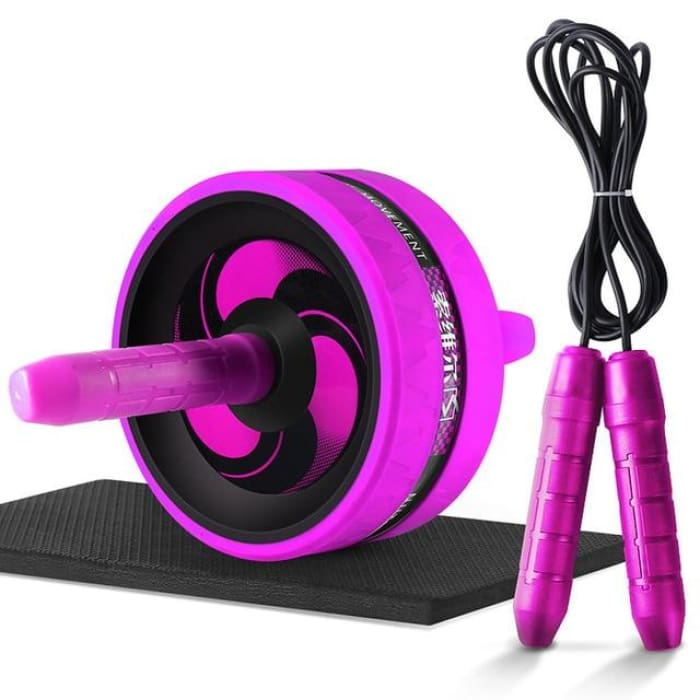 Ab Roller With Jump Rope - Red - Fitness Gym