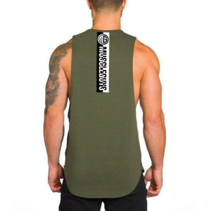 No Pain No Gain Tank Top - Army Green60 / L - Tank Tops