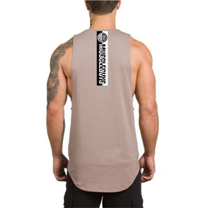 No Pain No Gain Tank Top - Khaki60 / L - Tank Tops