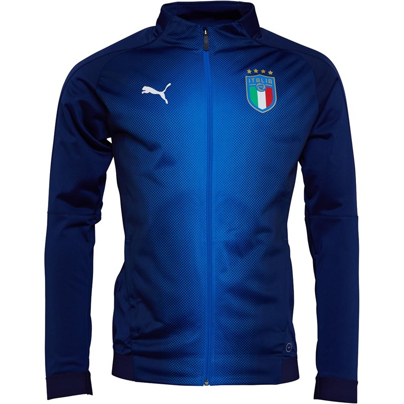Puma Mens FIGC Italy Stadium Jacket Peacoat/Team