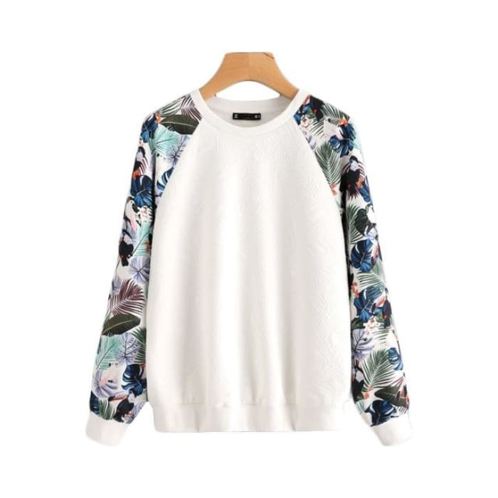 Tropical - White / Xs - Hoodies&sweatshirt