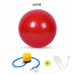 Yoga Ball - 65Cm Red - Fitness Gym
