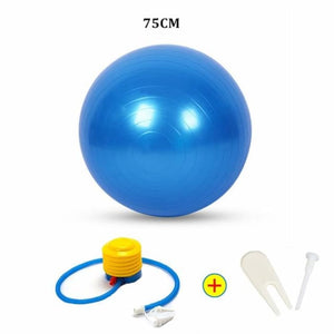 Yoga Ball - 75Cm Blue - Fitness Gym