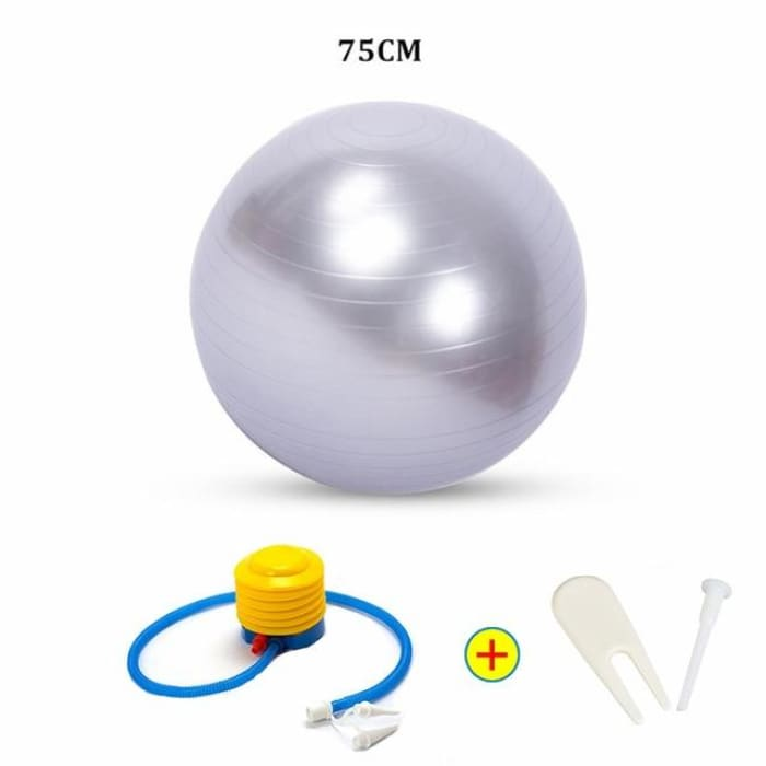 Yoga Ball - 75Cm Grey - Fitness Gym