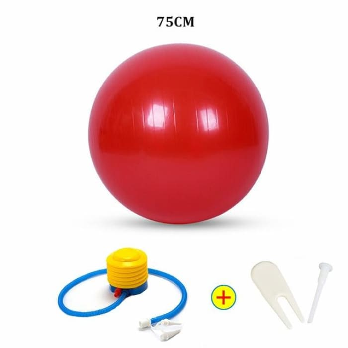 Yoga Ball - 75Cm Red - Fitness Gym