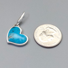 Pendant,Turquoise Heart Small in Sterling
