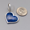 Pendant, Medium Heart Sterling and Lapis
