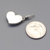 Pendant, Small Heart in Sterling and Roserita