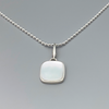 Pendant, Small Pillow Shape in Sterling and Mother-of-Pearl