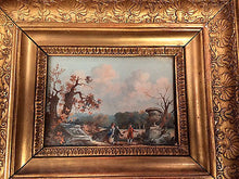 Neoclassical Italian Grand Tour Gouache of Ruins in Gilt Wood Frame