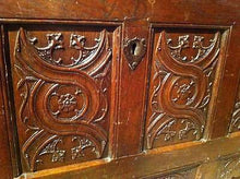 Gothic Oak Chest with Carved Linenfold Panels