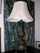 ITALIAN BAROQUE STYLE BRONZE CANDLESTICK TABLE LAMP