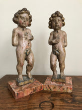 Pair of 17th Century Italian Carved Wood Putti
