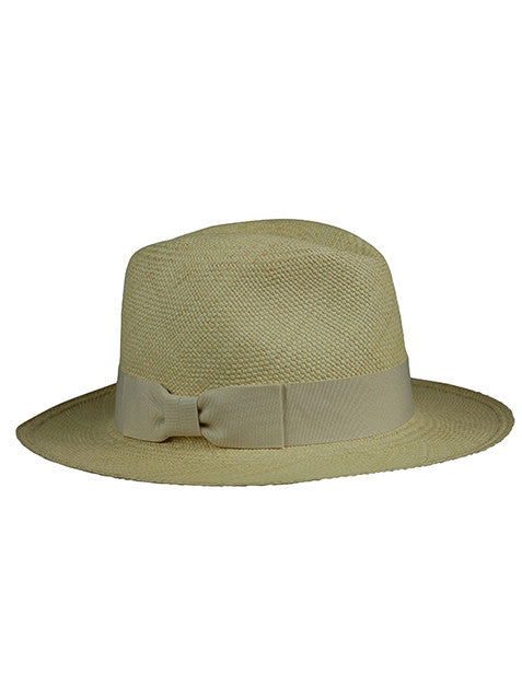 PANAMA FEDORA HAT WITH CLASSIC BOW TRIM