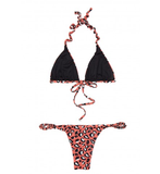 THE SCRUNCHIE LEO T BIKINI SET