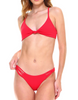 RED KNOTTED BIKINI SET